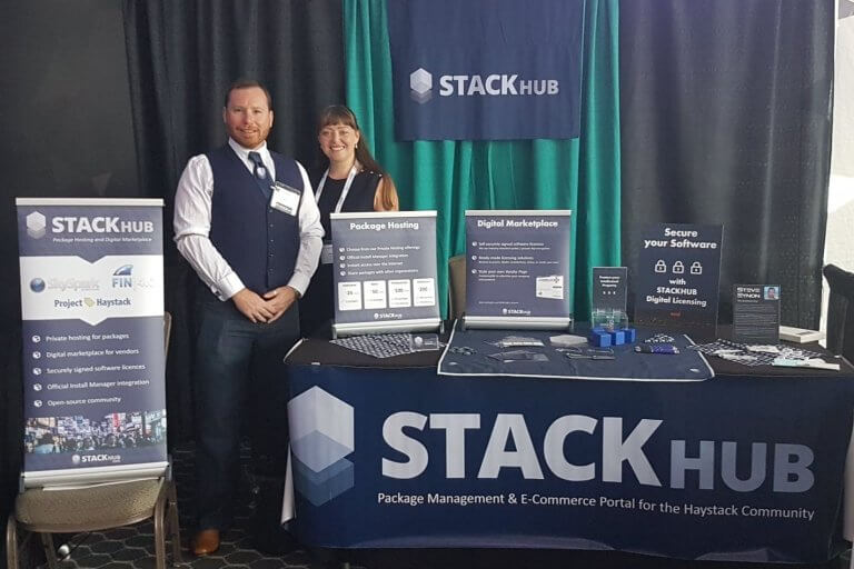 Steve and Emma presents StackHub at Haystack Connect 2019